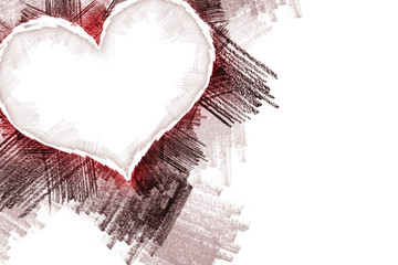 Heart pancil 25