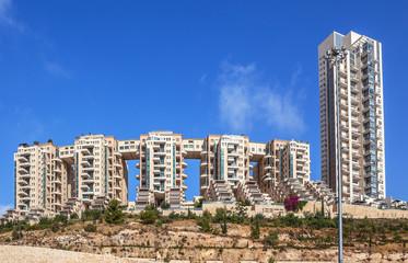Modern residential buildings in Jerusalem, Israel.