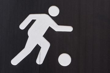Soccer playground sign