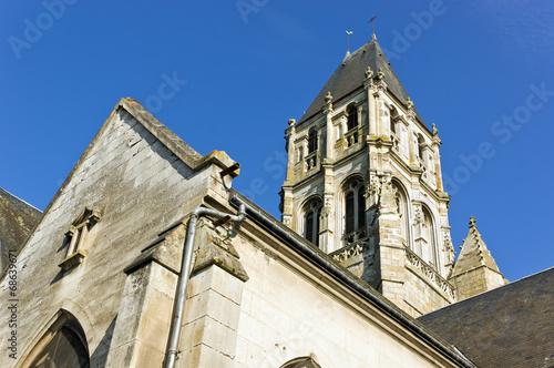 canvas print picture alte Kirche in Orbec, Frankreich