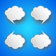 Abstract cloud bubble tag