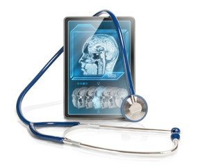 Tablet with MRI scan