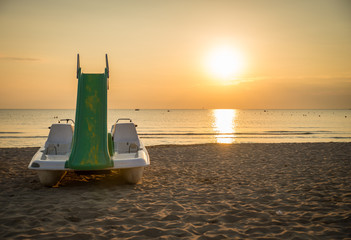Rimini beach at sunrise