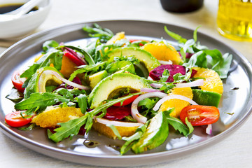 Avocado with Orange and Beetroot salad