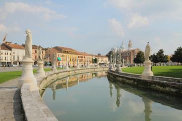 Channel on Prato-della-Valle Square. Padua, Italy