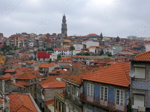 canvas print picture Die Dächer von Porto