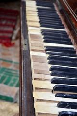 Old piano keys.