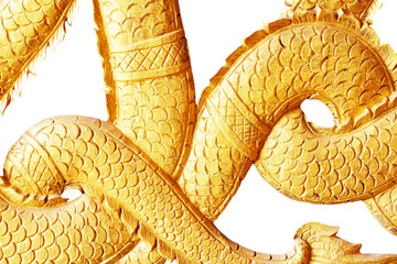 Gold dragon scales background