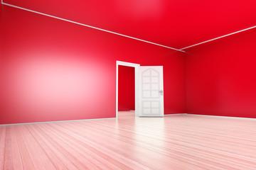 Rotes Apartment.