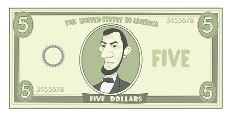 cartoon American dollar