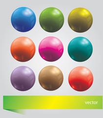 Bright  set with balls