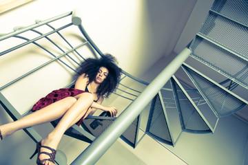 Wein auf der Treppe