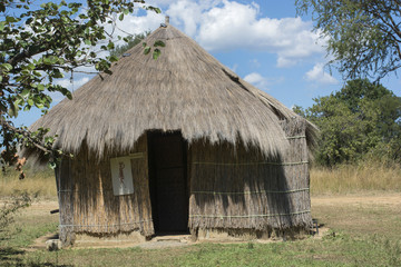 African hut made of straw