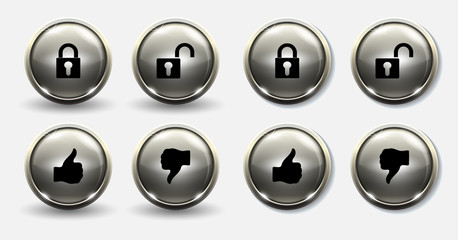 Lock and unlock buttons thumb