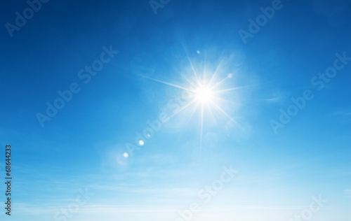 blue sky and sun - 68644233