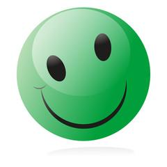 smiley green happy glossy