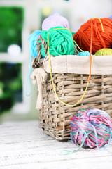 Multicoloured knitting yarn