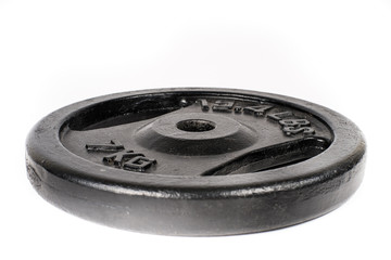 plate weight  on withe isolated background