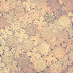 vintage filter, stone brick floor texture
