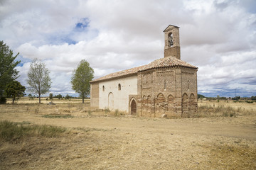 old damaged church in the countryside