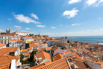 View of the old Alfama quarter in Lisbon, Portugal
