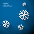 Modern blue christmas card with flat design
