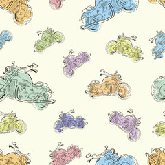 Seamless texture with motorcycles 3