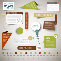 Infographic timeline elements / template
