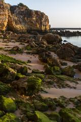Landscape view of the beaches near Ferragudo, Portugal.