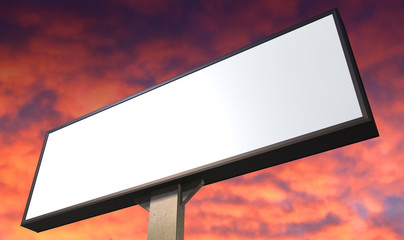 Light Box Vertical On Red Sky