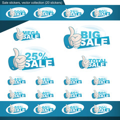 Sale sticker set