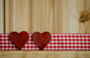 Zwei Herzen auf Band
