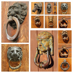 old door knockers collection, Tuscany