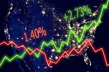 US Map Stock Market
