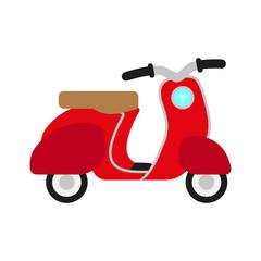 red retro no name scooter - symbol of transport