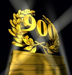 900 nine-hundred number in golden numbers