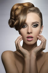 girl with elegant hair-style