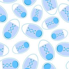 Gumshoes Seamless Pattern Backround Vector Illustration