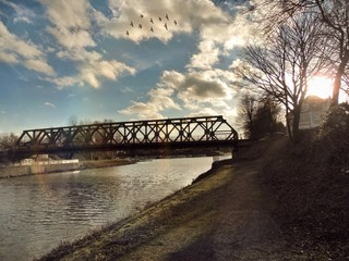 Brücke über dem Rhein-Herne-Kanal