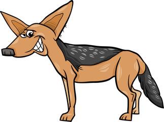 jackal animal cartoon illustration