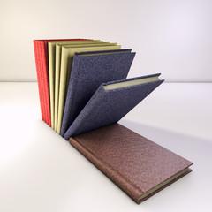 books 3d render