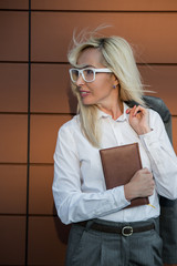 Business Woman Glasses