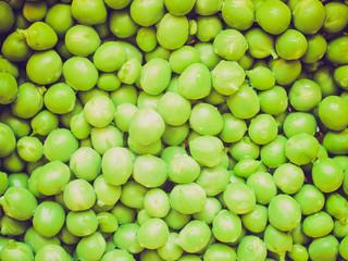 Retro look Green peas