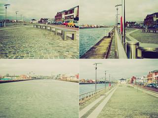 Retro look Dublin Docks