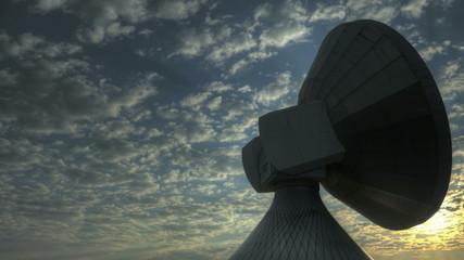 Time lapse sunrise over Satellite Station