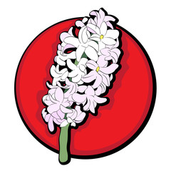hyacinth clip art red