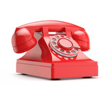 retro (vintage) red phone - 68653439
