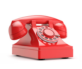 retro (vintage) red phone