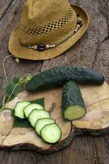 Cucumber organic garden