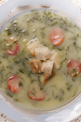 traditional portuguese soup, called Caldo Verde
